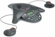Polycom SoundStation 2 (LCD displej a mic. porty)
